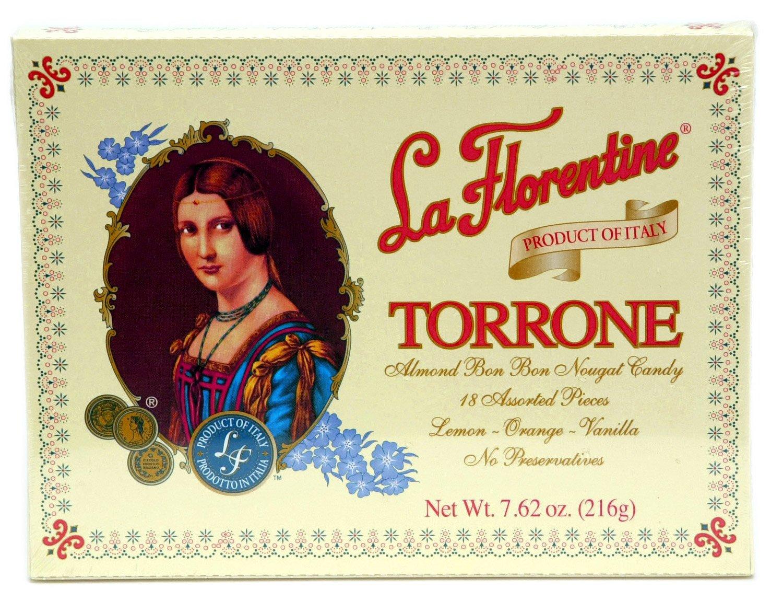 (Pack of 5) La Florentine Torrone Italian Soft Almond Nougat Candy, 18 pc Assortment Each Box by La Florentine