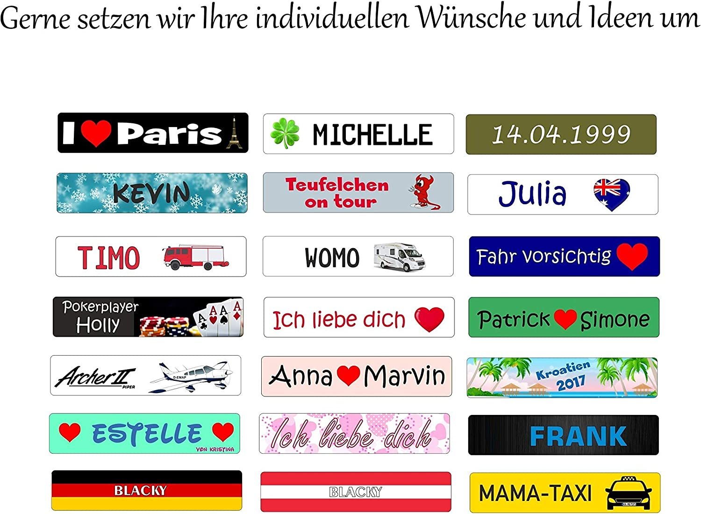 Schlusselanhanger Mit Ihrem Kfz Kennzeichen Und Tuv Plakette