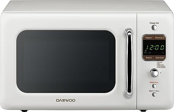 Daewoo KOR-7LREW Retro Countertop Microwave Oven 0.7 Cu. Ft.