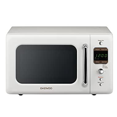 Daewoo KOR-7LREW Retro Countertop Microwave Oven 0.7 Cu. Ft., 700W | Cream White