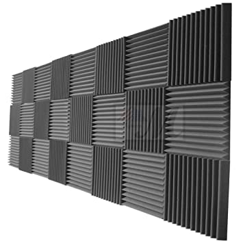 Amazoncom Mybecca 24 Pack Acoustic Foam Panels 2 X 12 X 12