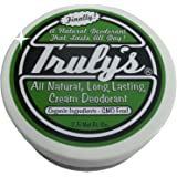 Truly's – All Natural, Long Lasting Organic Cream Deodorant – 2.5 oz