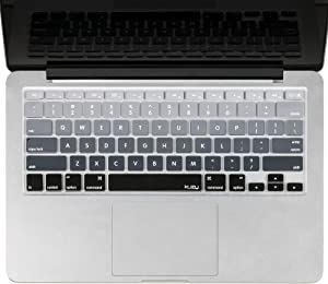 Kuzy - MacBook Keyboard Cover for Older Version MacBook Pro 13, 15, 17 inch and MacBook Air 13 inch, iMac Wireless Keyboard, Apple Computer Accessories Key Board Silicone Skin Protector - Ombre Gray