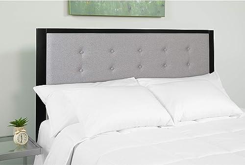 EMMA OLIVER King Size Upholstered Metal Panel Headboard