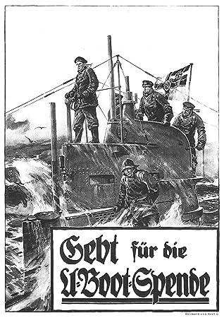 U-Boot auf See Fine Art Print European Art Reproduction Submarine at Sea