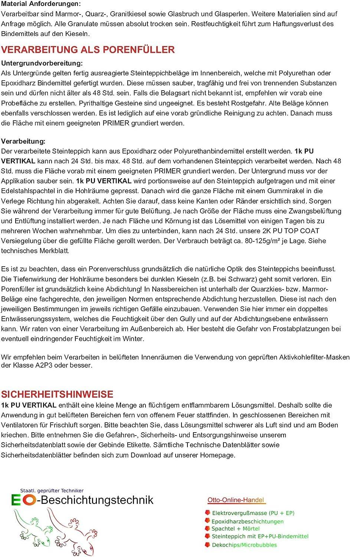 Marmorkies Ultimative Steinteppichanleitung Epoxidharz und 1k PU Bindemittel