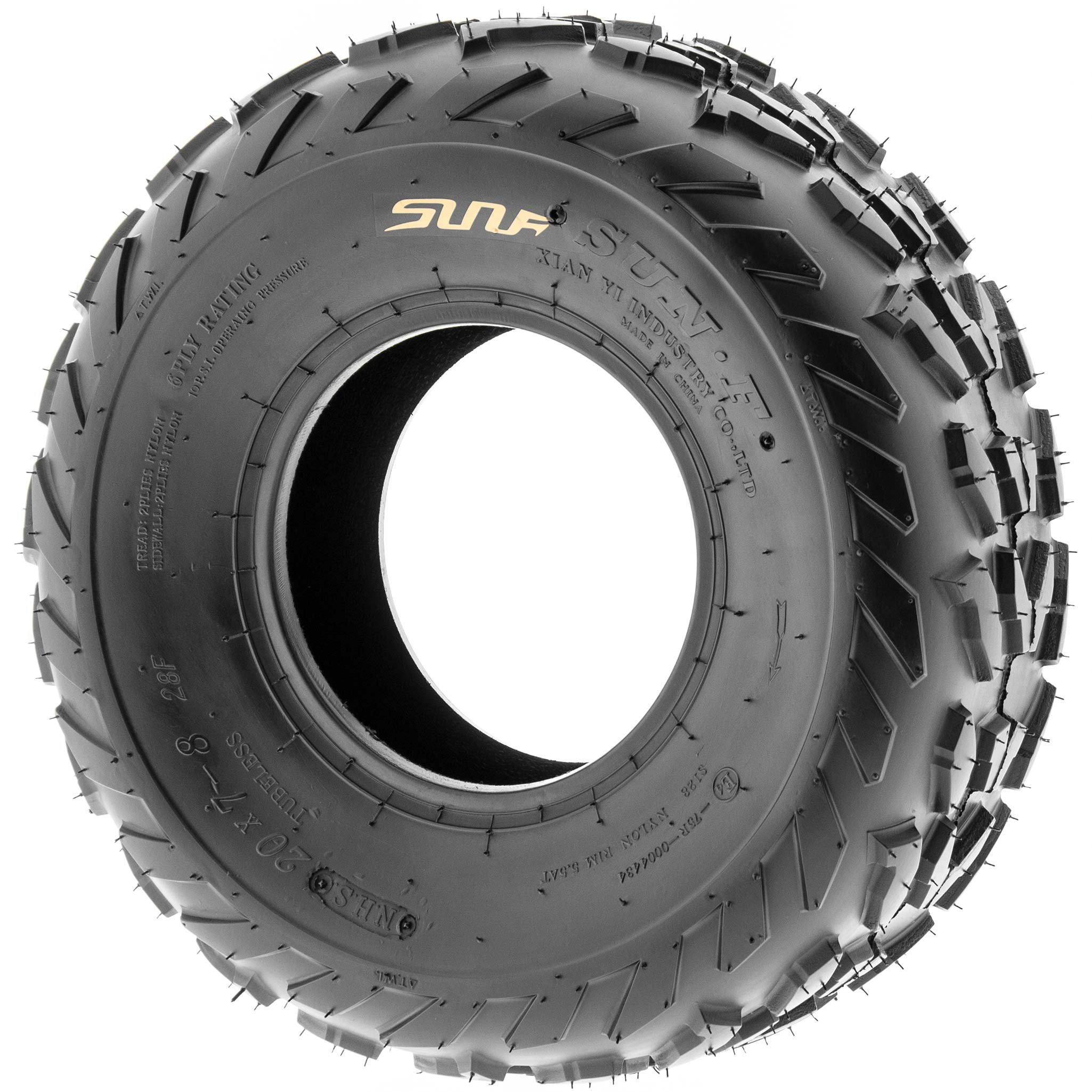 SunF 20x7-8 20x7x8 ATV UTV A/T Quad Race Replacement 6 PR Tubeless Tires A007, [Set of 2] by SunF (Image #4)