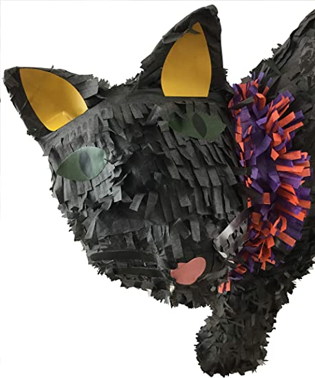 Black cat  piñata    birthday  girl smash  party game