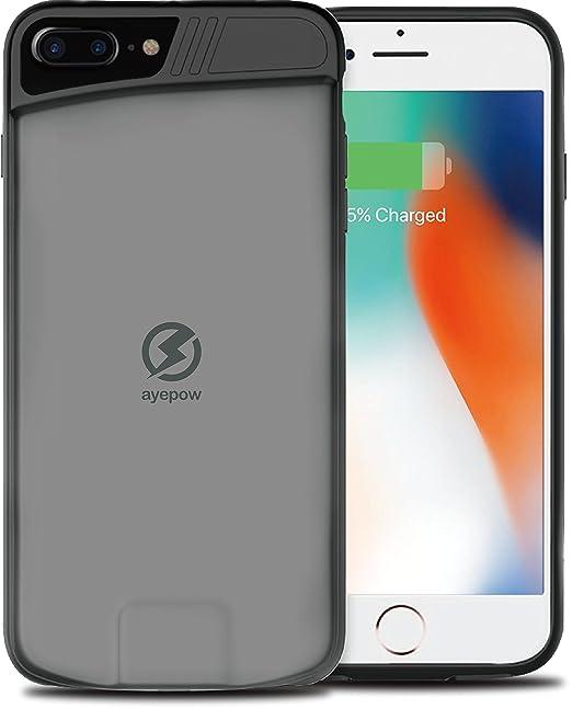 Inalámbrico cargador para iPhone 7 6 6S Plus 7Plus teléfono carga Banco de alimentación carga de batería Casos (4.7)