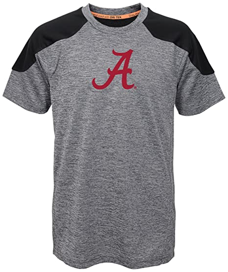 "62e4e65abc16 NCAA by Outerstuff NCAA Alabama Crimson Tide Youth Boys ""Gamma""  Short Sleeve Performance"