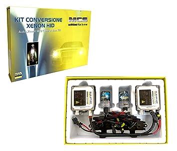 Melchioni 353000011 Kit de conversión Xenon H1 HID 6000 K 24 V lámparas + bombillas xenón y ballasts para antiniebla o anabbagl: Amazon.es: Coche y moto