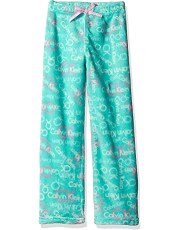 b7acac2177e Calvin Klein Girls' Ck Print Plush Sleep Pant