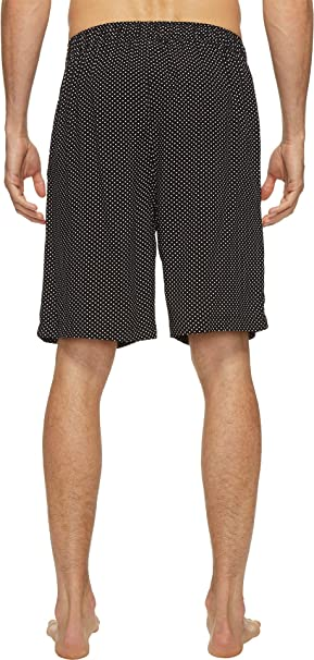 Jockey Mens Printed Rayon Woven Pajama Short Black Polka Dot Small Jockey Men/'s Sleepwear KNOJY550RA