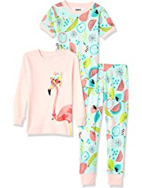 Spotted Zebra Girls 3-Piece Snug-fit Cotton Pajama Set