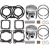 NICHE 64mm Piston Gasket Ring Top End Kit for Yamaha Banshee 350 2GU-11181-00-00 3GG-11351-02-00 93450-17129-00
