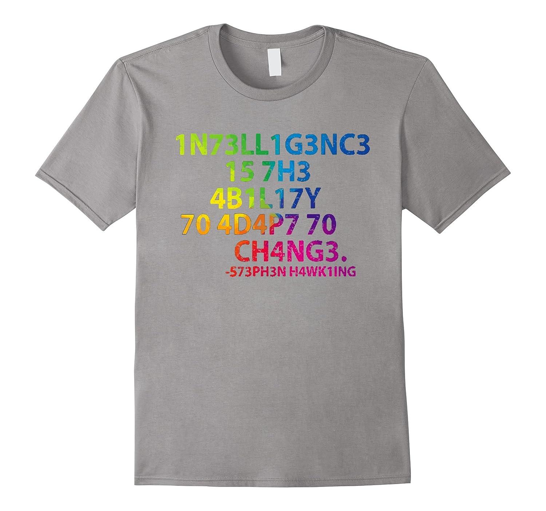 Intelligence T Shirt - Funny Hidden Message Shirt-BN