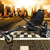 "Hoverkart mit LED-Beleuchtung für Hoverboard E-Scooter Hoverseat mit Federung Self Balance Scooter Sitz GoKart (6,5"" / 8,0"" / 10"") verstellbar"
