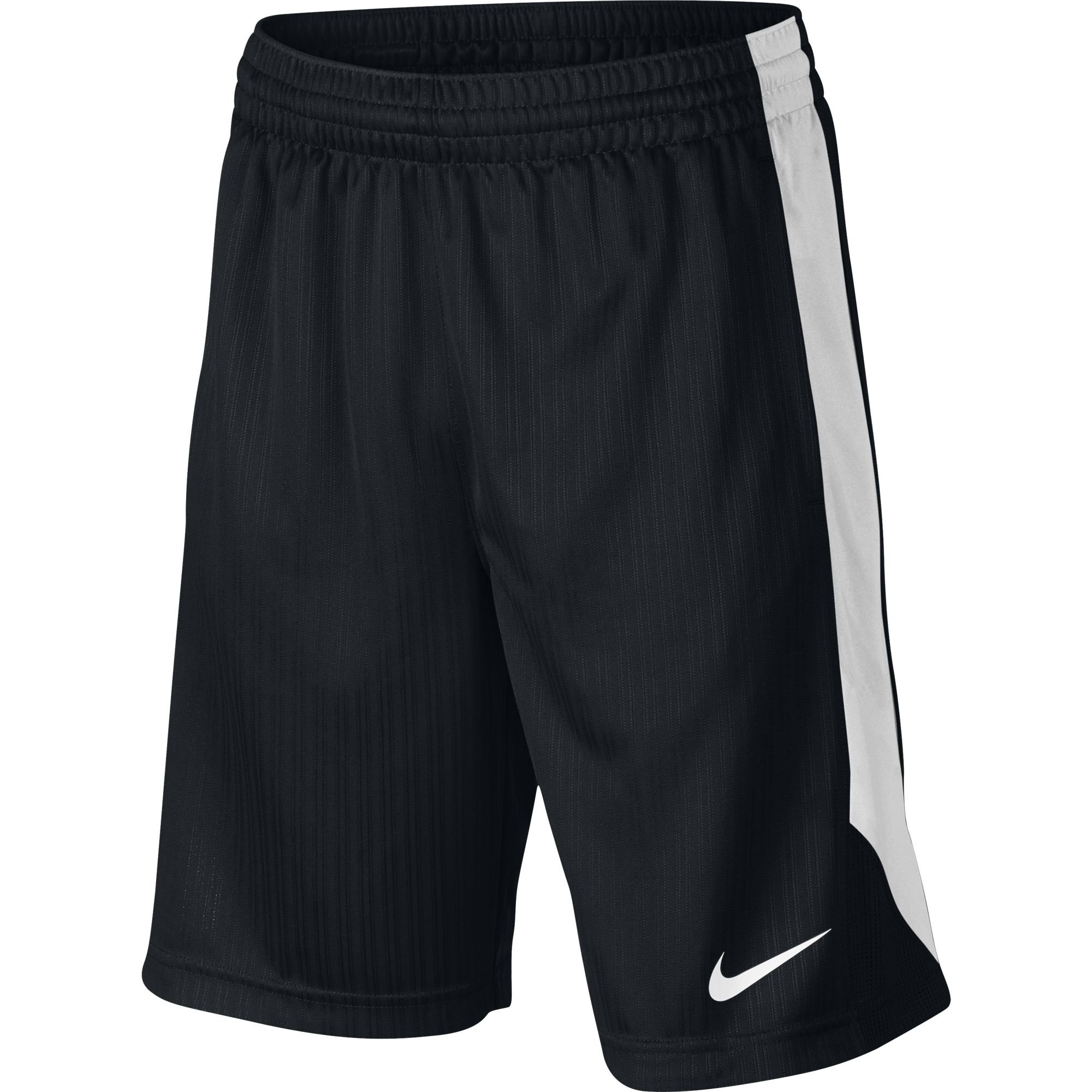NIKE Boys' Layup Shorts, Black/White/Black/White, Small
