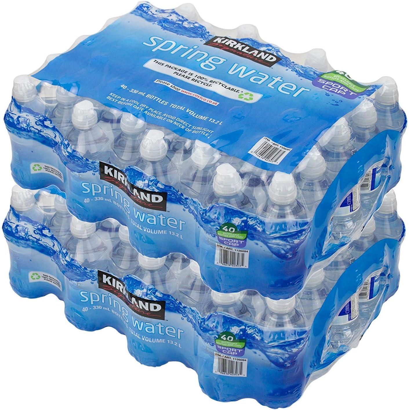 Kirkland Signature Botella de agua natural para deportes acuáticos, 330 ml 40 Count (Pack of 2): Amazon.es: Hogar