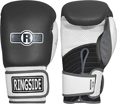 Ringside Gym Sparring IMF Tech Hook and Loop Boxing Gloves Black//Red