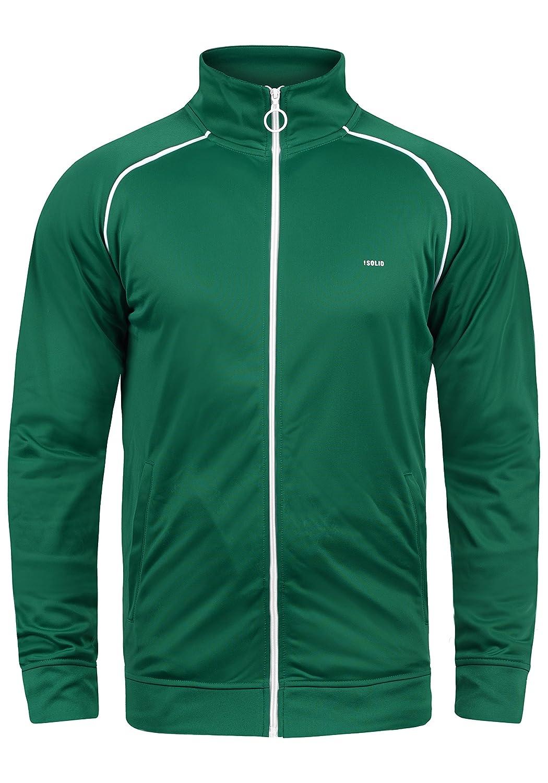 !Solid Leander Herren Trainingsjacke Sweatjacke Cardigan Mit Reißverschluss Stehkragen Und Fleece-Innenseite
