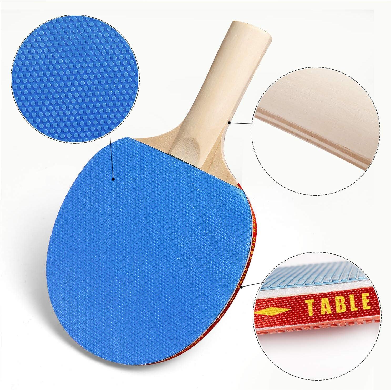 Portatile,per Indoor Outdoor Tavolo da Ping Pong Gioco WOMGF Set da Ping Pong Racchette Professionale Rete da Ping Pong con 6 Palline da Ping Pong