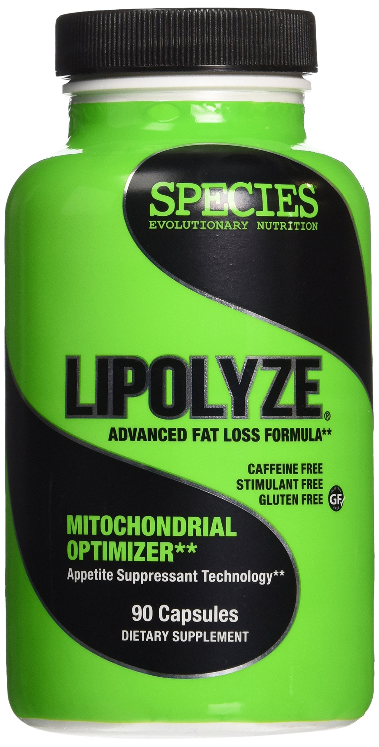 Species Nutrition Lipolyze, Stimulant Free Daytime Fat Burner and Appetite Suppressant with Green Tea Leaf Extract and Alpha Lipoic Acid, Gluten Free Caps, 90 Count