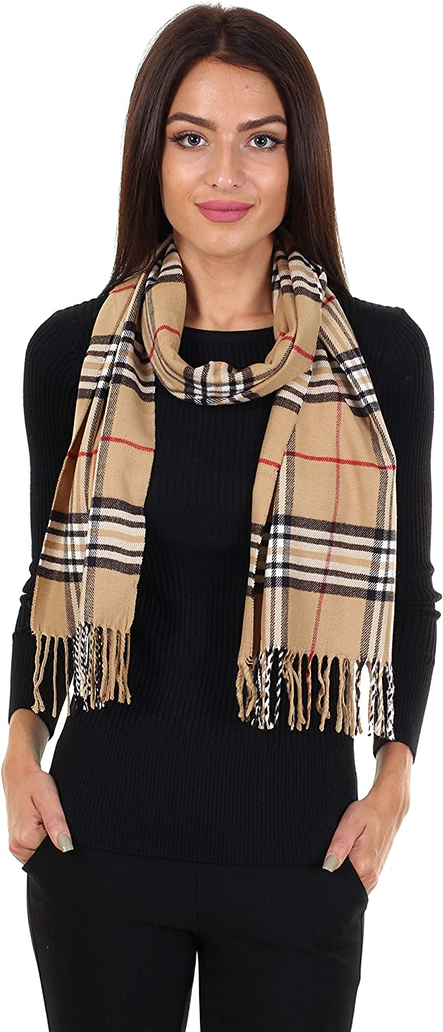 DG Men/'s Winter Scarf,Stripe Brown Beige Cashmere Feel.Warm*Unisex