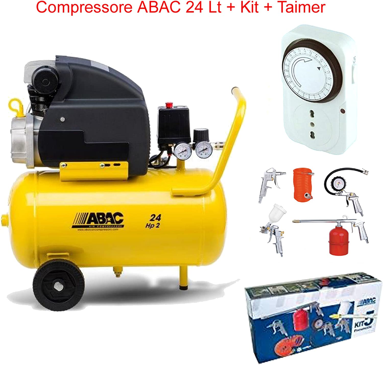 Compresor de aire LT.24 ABAC Pole Position con kit 5 piezas + ...