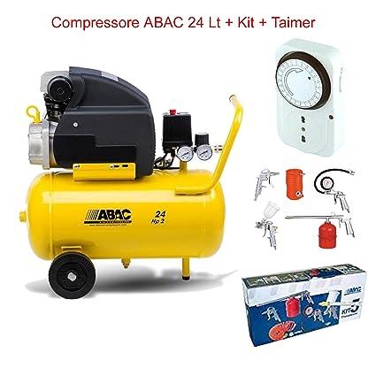 Compresor de aire LT.24 ABAC Pole Position con kit 5 piezas + temporizador