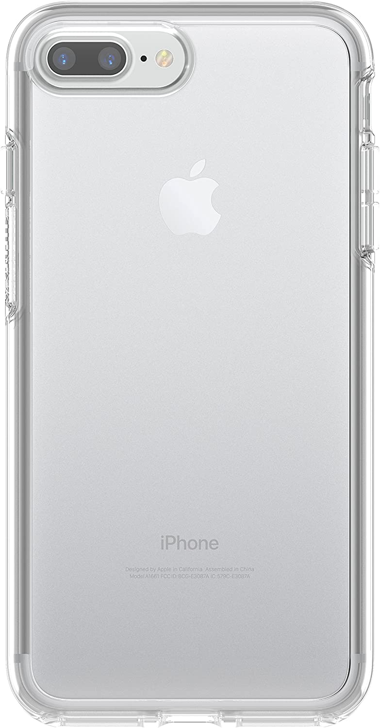 Otterbox Symmetry Clear Series Case for iPhone 8 Plus & iPhone 7 Plus - Retail Packaging & ZAGG InvisibleShield Glass+ Screen Protector – Fits iPhone 8 Plus, iPhone 7 Plus, iPhone 6s Plus