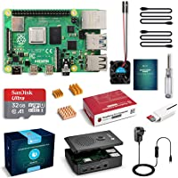 LABISTS Raspberry Pi 4 Complete Starter Kit with Pi 4 Model B 4GB RAM Board, 32GB Micro SD Card Preloaded Noobs, 5V 3A…