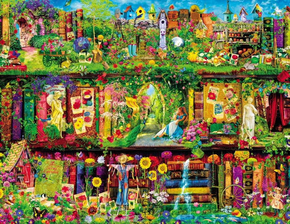 Agirlgle Jigsaw Puzzles 1000 Pieces for Adults for Kids, Jigsaw Puzzles -Colorful Garden- 1000 Pieces Jigsaw Puzzles,Softclick Technology Means Pieces Fit Together Perfectly