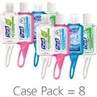 PURELL Advanced Instant Hand Portable Sanitizer Bottles, Scented 1 oz (Pack of 8)