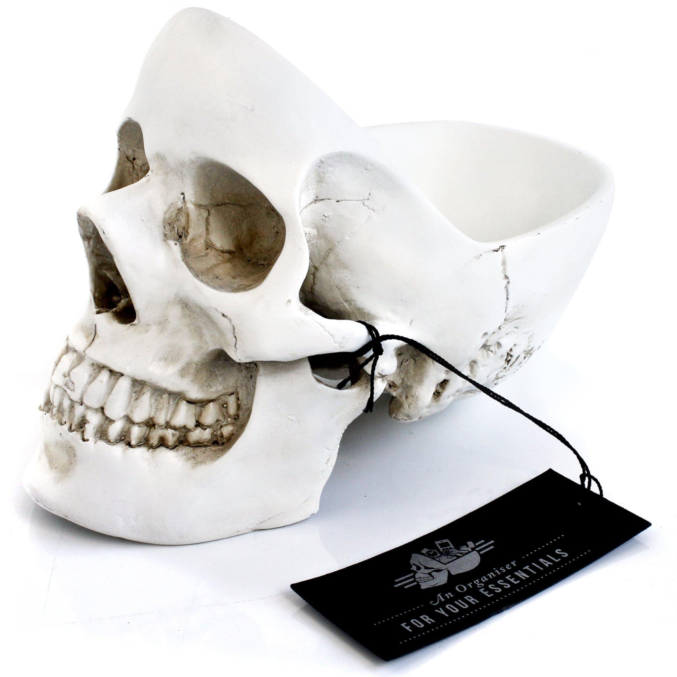 SUCK UK Skull Tidy - White