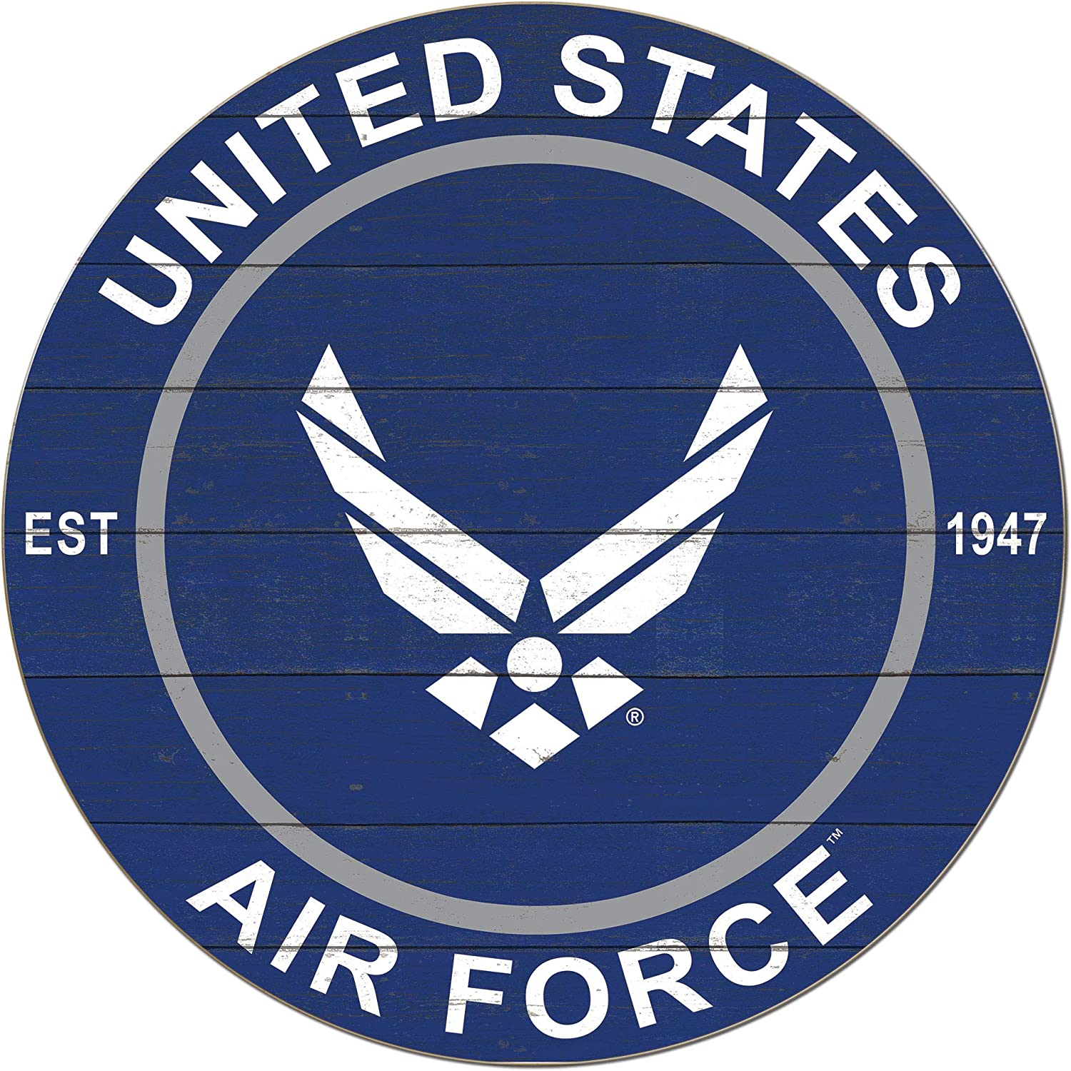 """KH Sports Fan Classic Air Force 20""""x20"""" Circle Wall Sign, Multi- Colored"""