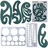 Mr. Pen- French Curve, Large Circle Template and Ellipse Template (6 Pc), Curve Ruler, Drawing Tools, Drafting Tools, Geometry Template, Drawing Templates, Architectural Templates, Journaling Supplies