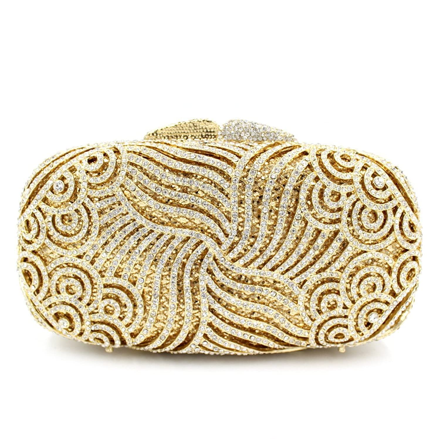 Gorgeous Gold Clutch Bag Crystal Women Bridal Clutch
