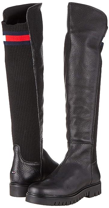 Tommy Hilfiger Flag Sock Tommy Jeans Boot, Botas Altas para Mujer