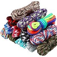13 Colores 10 Pies Cable de Paracord 550 Cuerdas de Paracord Multifunción Cuerda de Tienda de Campaña al Aire Libre con…