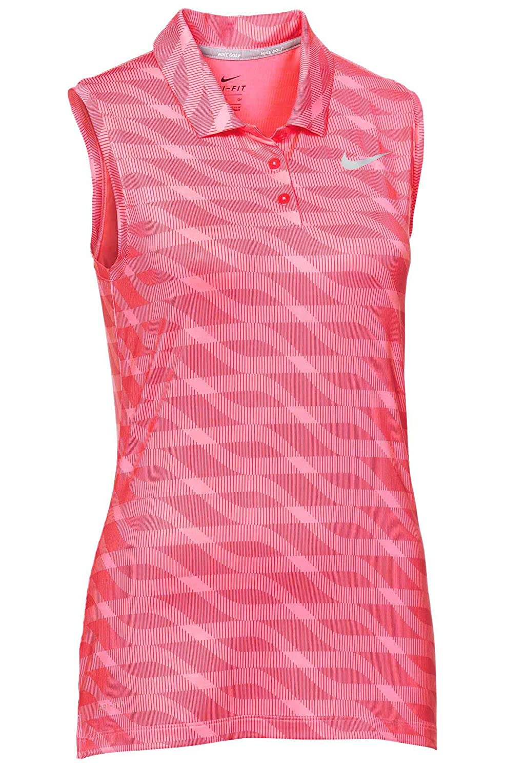 7aff3a6977db4 Amazon.com: NIKE Women's Dri-Fit Sleeveless Golf Polo-Hyper Pink ...