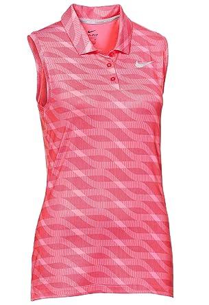aab47dbff1809b Amazon.com  Nike Women s Dri-Fit Sleeveless Golf Polo-Hyper Pink ...