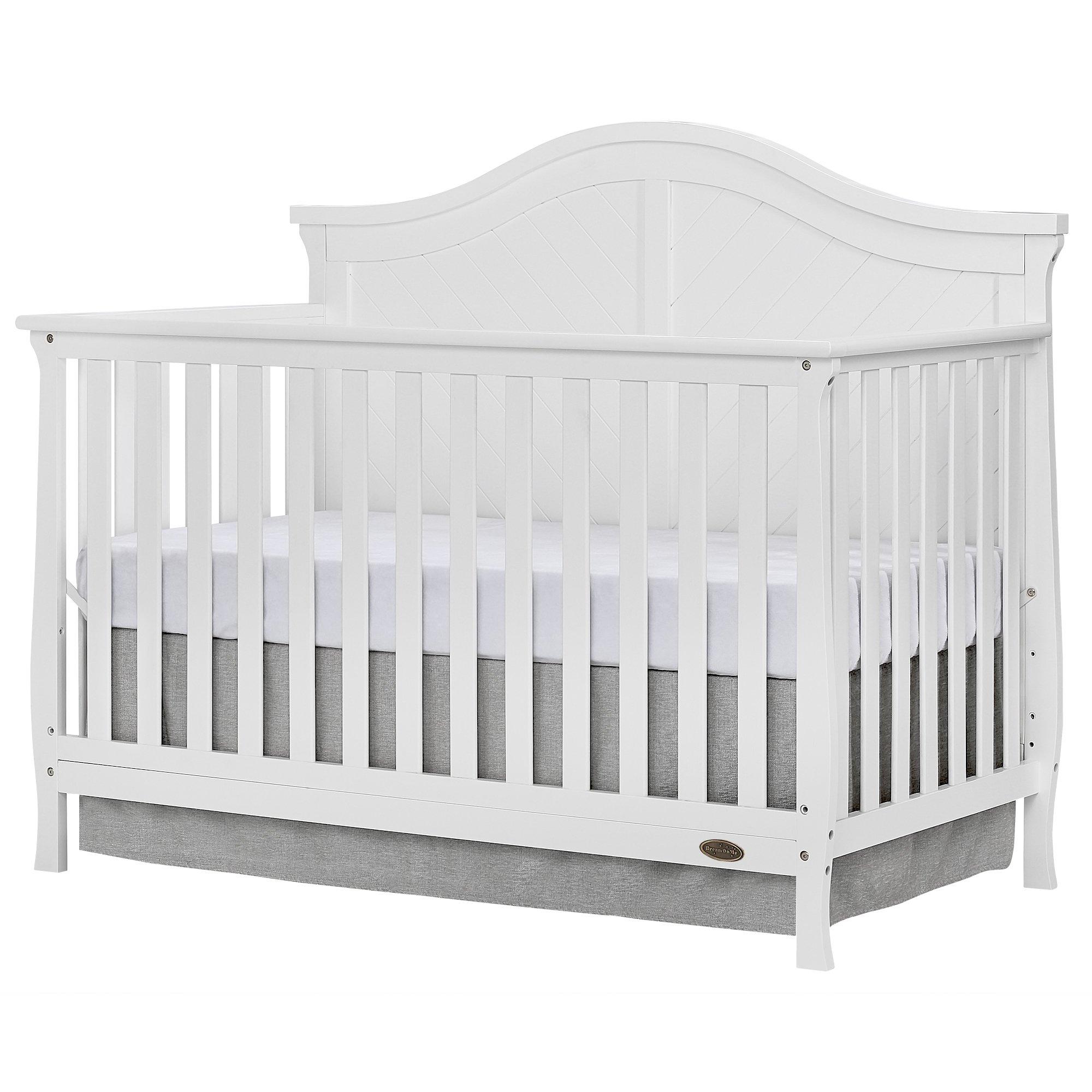 Dream On Me Kaylin 5 in 1 Convertible Crib, White
