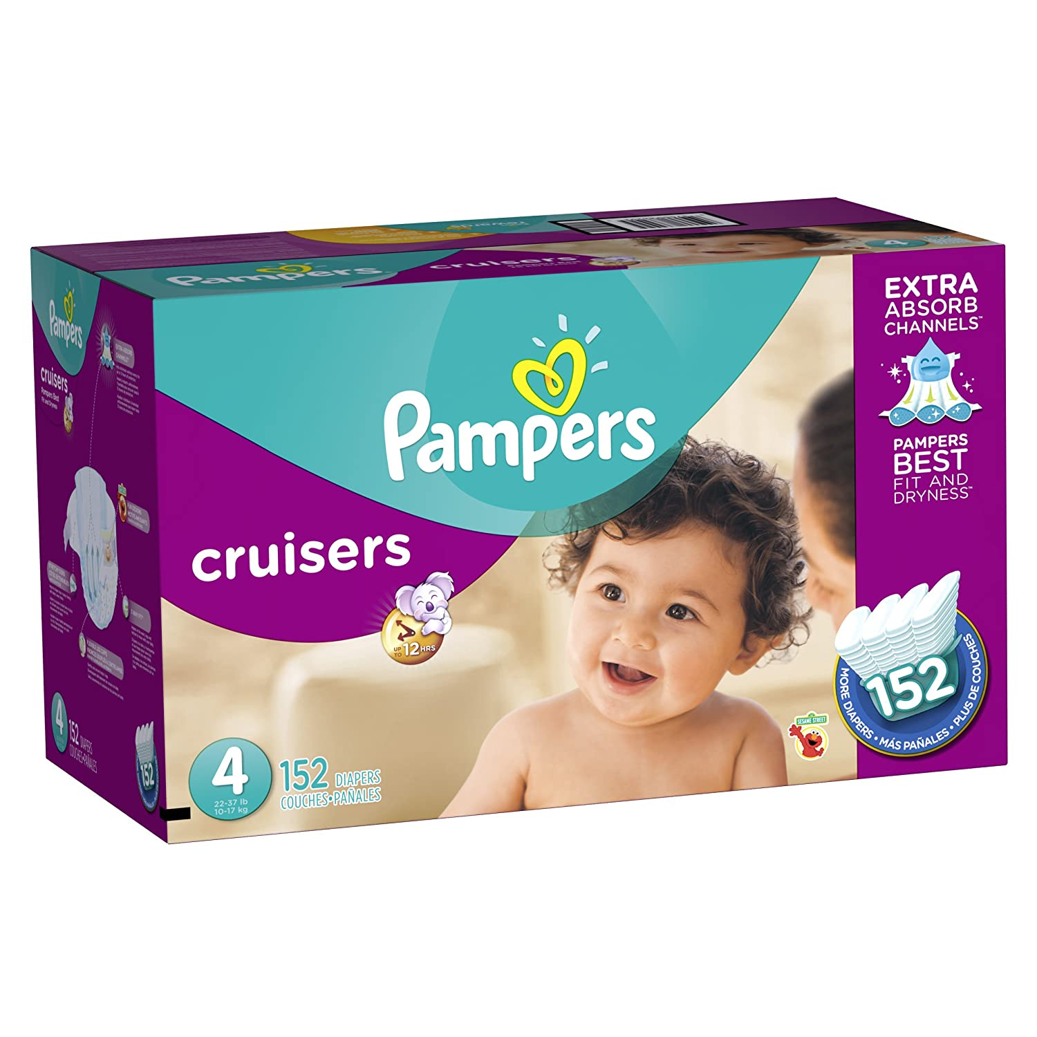 pampers cruisers diapers economy plus pack size 4 152 count baby furniture for less