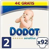 Dodot Sensitive Pañales Talla 2, 92 Pañales, 4-8