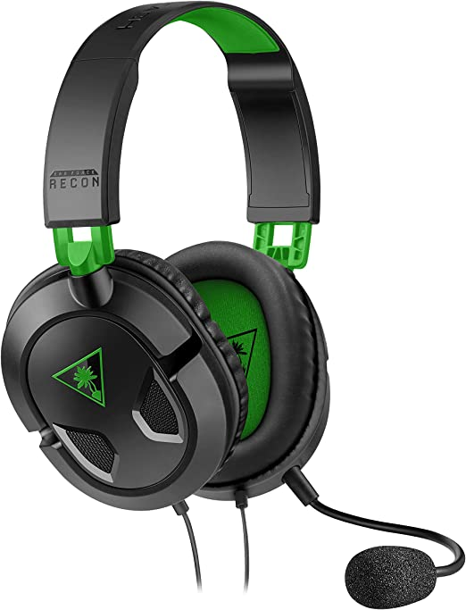 Turtle Beach Recon 50X Auriculares Gaming Xbox One, PS4, PS5, Nintendo Switch y PC, Negro / Verde: Amazon.es: Videojuegos