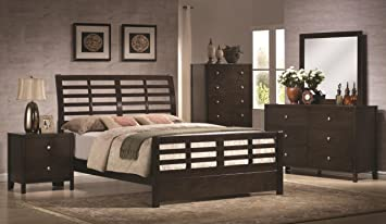 Amazon.com: Zoe 5 Piece Bedroom Set King: Kitchen & Dining