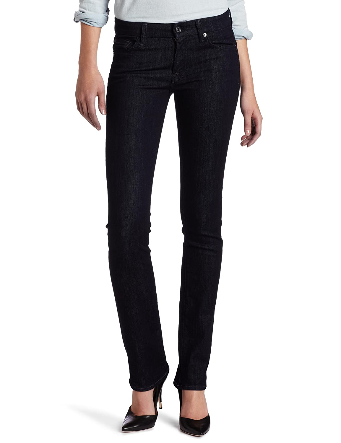 7 For All Mankind Women's Kimmie Straight Leg Jean in New Rinse
