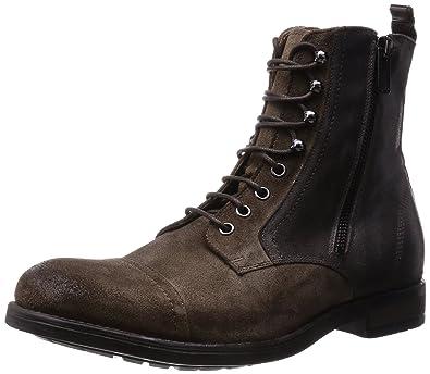 3896c75e7ccad DIESEL - Boots - Homme - Bottines Zippées Pr Coté Bout Rapporté Marron  Lacets D-