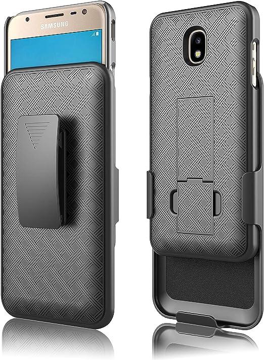Coque pour Galaxy J7 Star J7, J7 Crown Case, J7v 2e génération, J7 2018, J7 Refine Case, clip ceinture, résistant aux chocs, béquille de téléphone ...